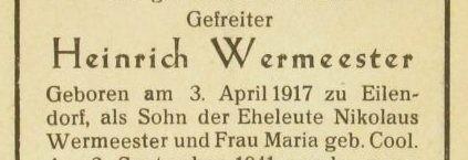 Heinrich Wermeester