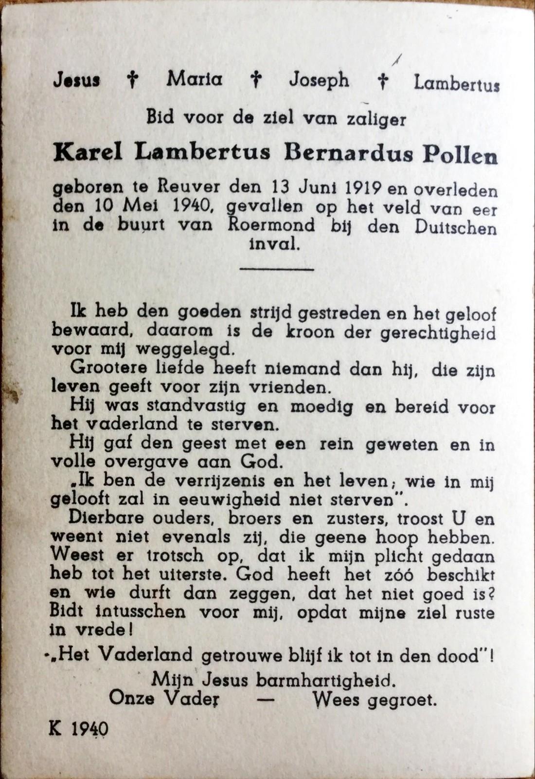 Karel Bernard Lambertus Pollen