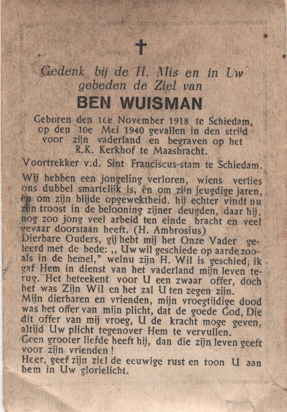 Bernardus Petrus Henricus Wuisman